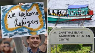 Composite picture of asylum debate