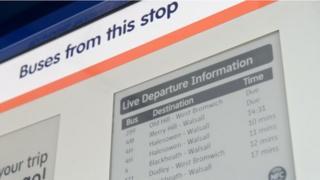 Bus stop in Oldbury