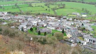 Corwen from near Pen y Pigyn