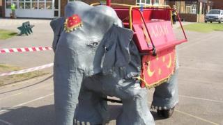 Rajah the mechanical elephant
