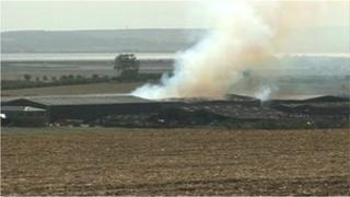 Eastchurch barn fire