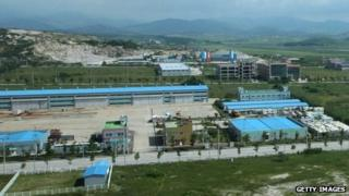 A general view of the Kaesong industrial complex in Kaesong, North Korea, 14 August 2013