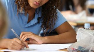Girl doing an exam