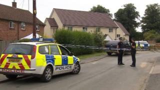 Police at scene