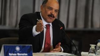 Venezuela's Finance Minister Nelson Merentes