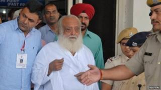 Asaram Bapu after his arrest in Jodhpur on 1 September 2013