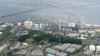 An aerial view of Fukushima from 20 August