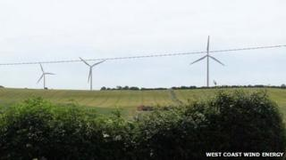 Snapshot of the original wind farm plan