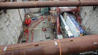 Crossrail construction work