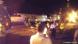Emergency landing at Newquay Airport. Pic: Dynargh Design