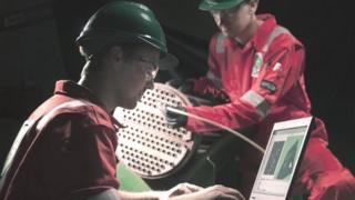 CAN staff performing tube inspection