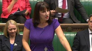 Rachel Reeves speaking in the Commons