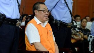 File photo: Yang Dacai at his trial at the Xi'an Intermediate People's Court in Xi'an, northwest China's Shaanxi Province, 30 August 2013