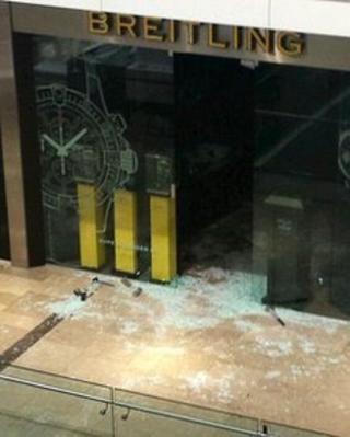 The Breitling shop targeted by the armed robbers