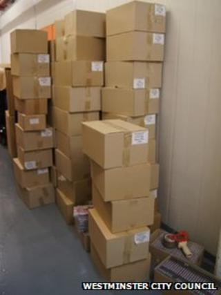 Boxes full of unclassified material