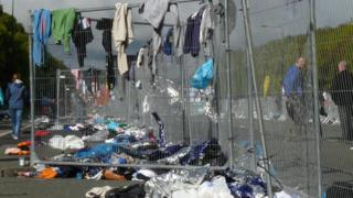 Clothes left behind after Great North Run