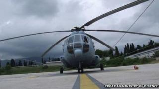 Croatian army helicopter