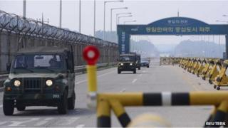 Road leading to the inter-Korean Kaesong industrial zone (7 June)