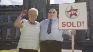 Lottery winners Catherine and James Paterson