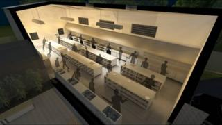 Computer generated image of the planned custom-built kitchen at Mushtaqs Restaurant in Hamilton