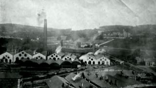 Historic photo of Merthyr Tydfil ironworks