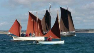 Luggers in Cornwall