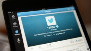 Twitter app on smartphone