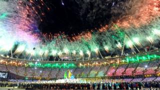 Olympic stadium closing ceremony