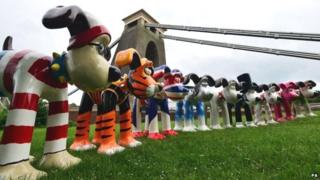 Eighty giant Gromits have been dotted around Bristol and further afield