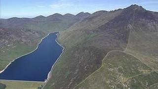 Aerial view of Mourne Mountains