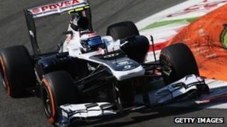 Williams Formula One car on the track