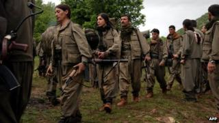 PKK fighters - file pic