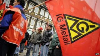 IG Metall union members - file pic