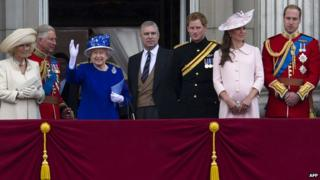 Royal Family line up