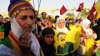 Kurdish activists celebrate Peace Day on Diyarbakir, on 1 September 2013