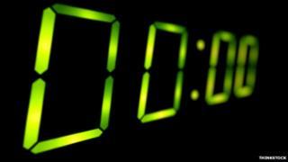 A digital clock showing all zeroes