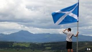 Man with Saltire