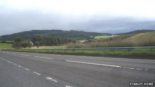 A96 road near Huntly