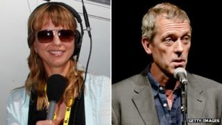 Sara Cox and Hugh Laurie