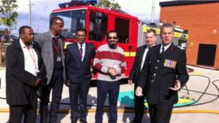 Leicestershire fire engine donation