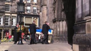 John Bellany funeral at St Giles Pic: Morag Kinniburgh