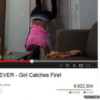 Screengrab of YouTube twerk video