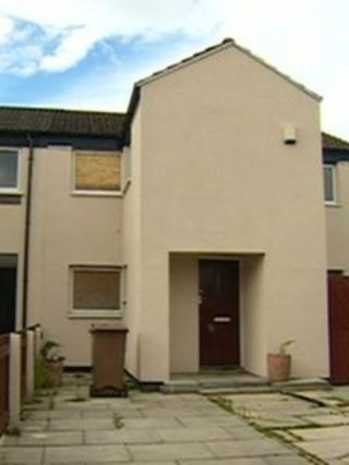 The house in Oak Grove, Patricroft, Eccles, where a fly spray can exploded in a teenage girl's face.