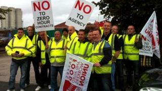 Hovis factory picket line