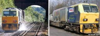 Special trains that Network Rail use to clear the leaf mulch from tracks