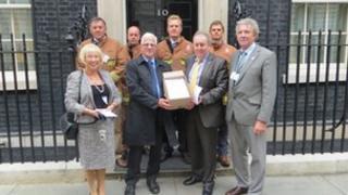 Campaigners at No 10