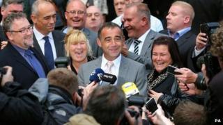 Michael Le Vell outside court
