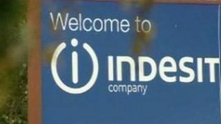 Indesit factory sign
