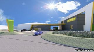 Architect's impression of Caterham's revamped centre at Hingham