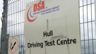 Hull Driving Test Centre sign